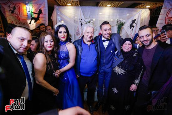 نجوم الزمالك فى حفل خطوبة محمد عنتر و دنيا الحلو (33)