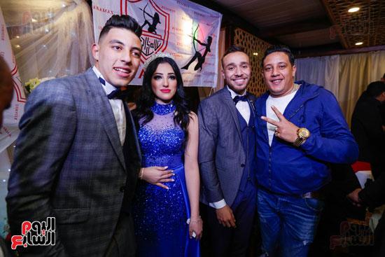 نجوم الزمالك فى حفل خطوبة محمد عنتر و دنيا الحلو (24)