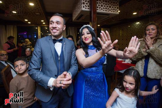نجوم الزمالك فى حفل خطوبة محمد عنتر و دنيا الحلو (45)