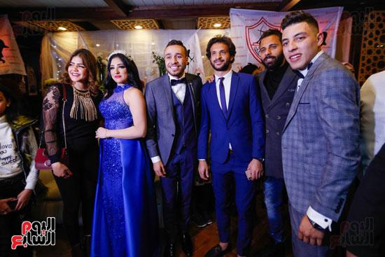 نجوم الزمالك فى حفل خطوبة محمد عنتر و دنيا الحلو (22)