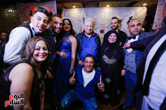 نجوم الزمالك فى حفل خطوبة محمد عنتر و دنيا الحلو (35)