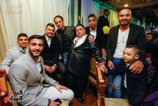 نجوم الزمالك فى حفل خطوبة محمد عنتر و دنيا الحلو (25)