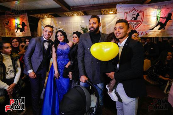 نجوم الزمالك فى حفل خطوبة محمد عنتر و دنيا الحلو (23)