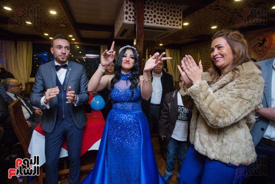 نجوم الزمالك فى حفل خطوبة محمد عنتر و دنيا الحلو (46)