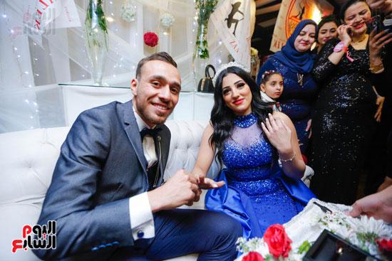 نجوم الزمالك فى حفل خطوبة محمد عنتر و دنيا الحلو (42)