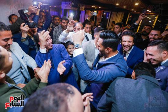 نجوم الزمالك فى حفل خطوبة محمد عنتر و دنيا الحلو (19)