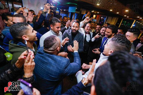 نجوم الزمالك فى حفل خطوبة محمد عنتر و دنيا الحلو (17)