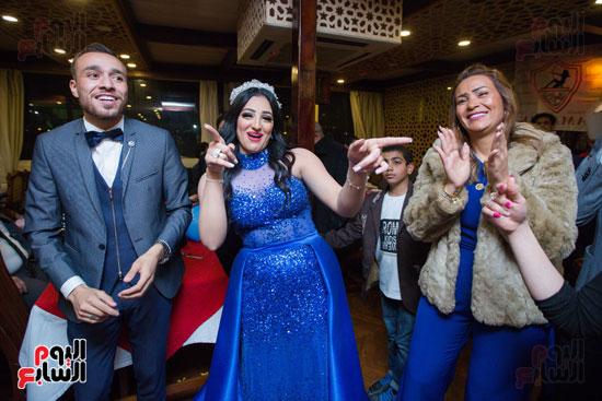 نجوم الزمالك فى حفل خطوبة محمد عنتر و دنيا الحلو (48)