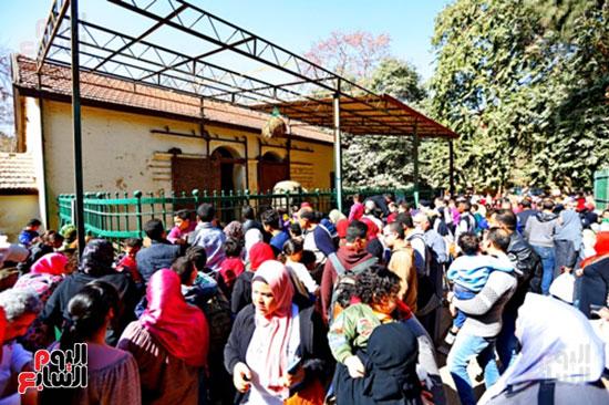 الأسر تودع الإجازة وتستعد للدراسة.. إقبال كثيف على حديقة الحيوان (8)