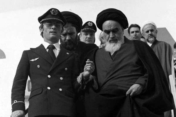 عودة الخمينى إلى طهران من المنفى