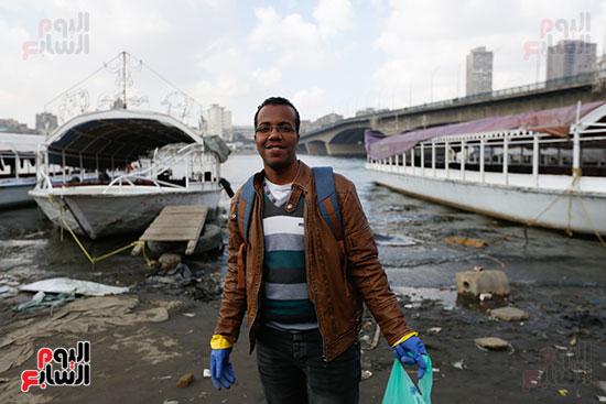 وزيرة البيئة تطلق حملة لتنظيف نهر النيل من المخلفات خاصة البلاستيكية (60)