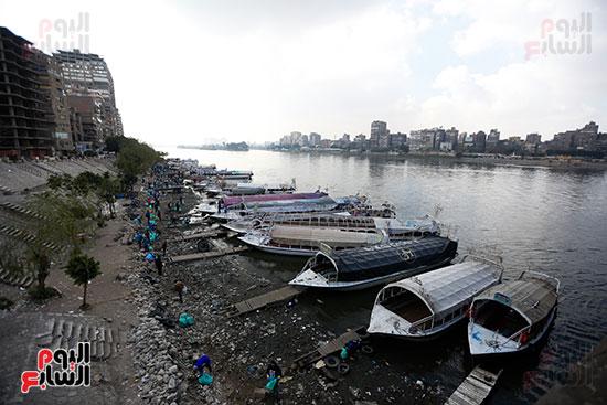 وزيرة البيئة تطلق حملة لتنظيف نهر النيل من المخلفات خاصة البلاستيكية (74)