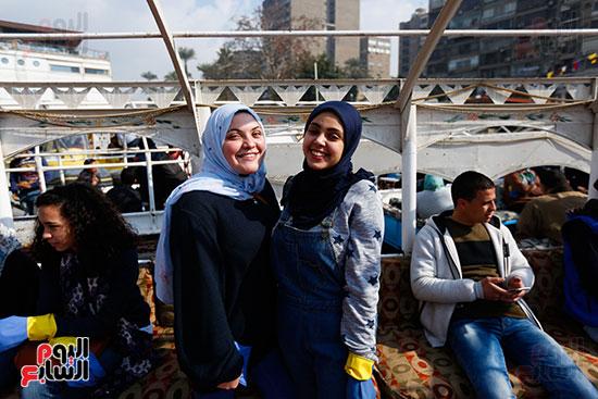 وزيرة البيئة تطلق حملة لتنظيف نهر النيل من المخلفات خاصة البلاستيكية (17)