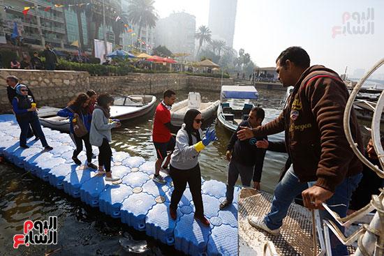 وزيرة البيئة تطلق حملة لتنظيف نهر النيل من المخلفات خاصة البلاستيكية (111)