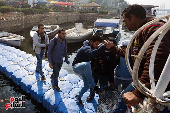 وزيرة البيئة تطلق حملة لتنظيف نهر النيل من المخلفات خاصة البلاستيكية (110)