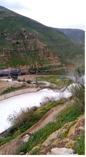 سريان المياه فى سد الملك طلال بالأردن