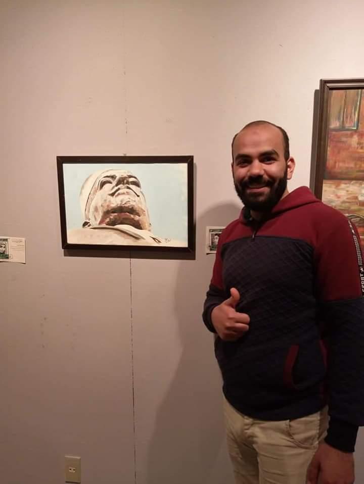 عمل فنى بمعرض تراثنا.. رسالة إلى الماضى بدار الأوبرا المصرية (6)