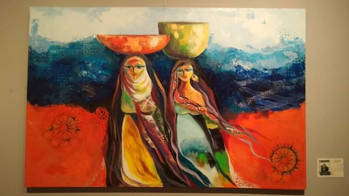 عمل فنى بمعرض تراثنا.. رسالة إلى الماضى بدار الأوبرا المصرية (1)