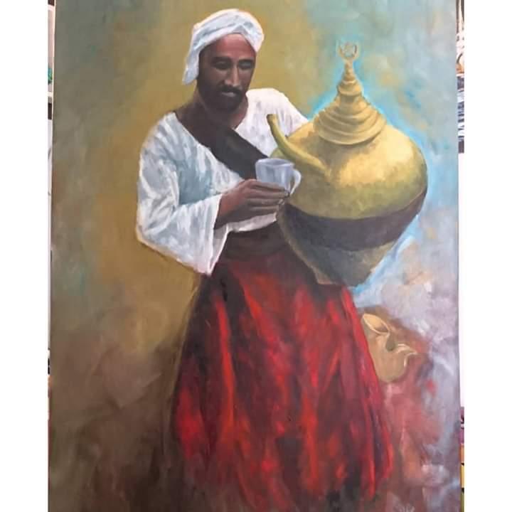 عمل فنى بمعرض تراثنا.. رسالة إلى الماضى بدار الأوبرا المصرية (5)