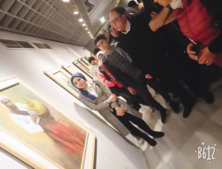 جانب من الحضور بمعرض تراثنا.. رسالة إلى الماضى بدار الأوبرا المصرية (4)
