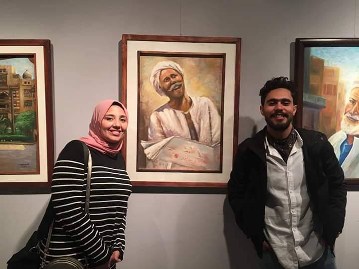 عمل فنى بمعرض تراثنا.. رسالة إلى الماضى بدار الأوبرا المصرية (8)