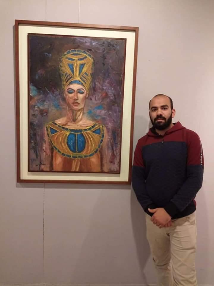 عمل فنى بمعرض تراثنا.. رسالة إلى الماضى بدار الأوبرا المصرية (7)