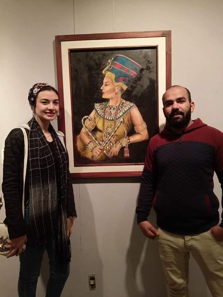 عمل فنى بمعرض تراثنا.. رسالة إلى الماضى بدار الأوبرا المصرية (13)
