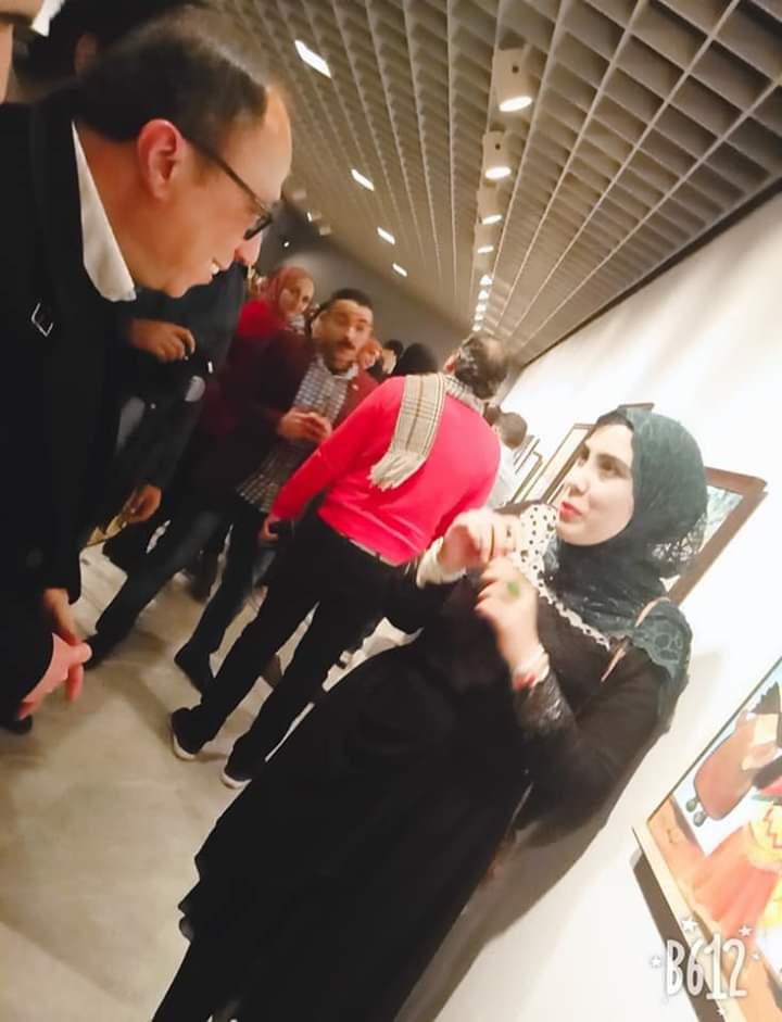 جانب من الحضور بمعرض تراثنا.. رسالة إلى الماضى بدار الأوبرا المصرية (6)