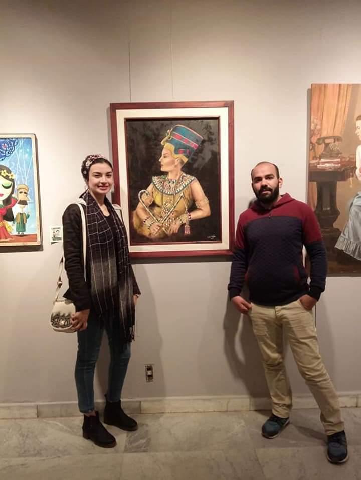 عمل فنى بمعرض تراثنا.. رسالة إلى الماضى بدار الأوبرا المصرية (11)