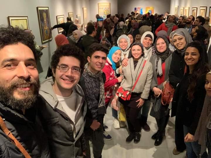 جانب من الحضور بمعرض تراثنا.. رسالة إلى الماضى بدار الأوبرا المصرية (7)