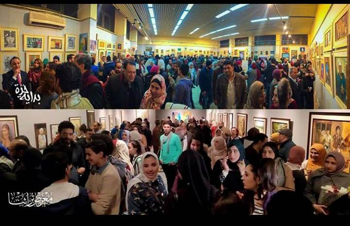 جانب من الحضور بمعرض تراثنا.. رسالة إلى الماضى بدار الأوبرا المصرية (5)
