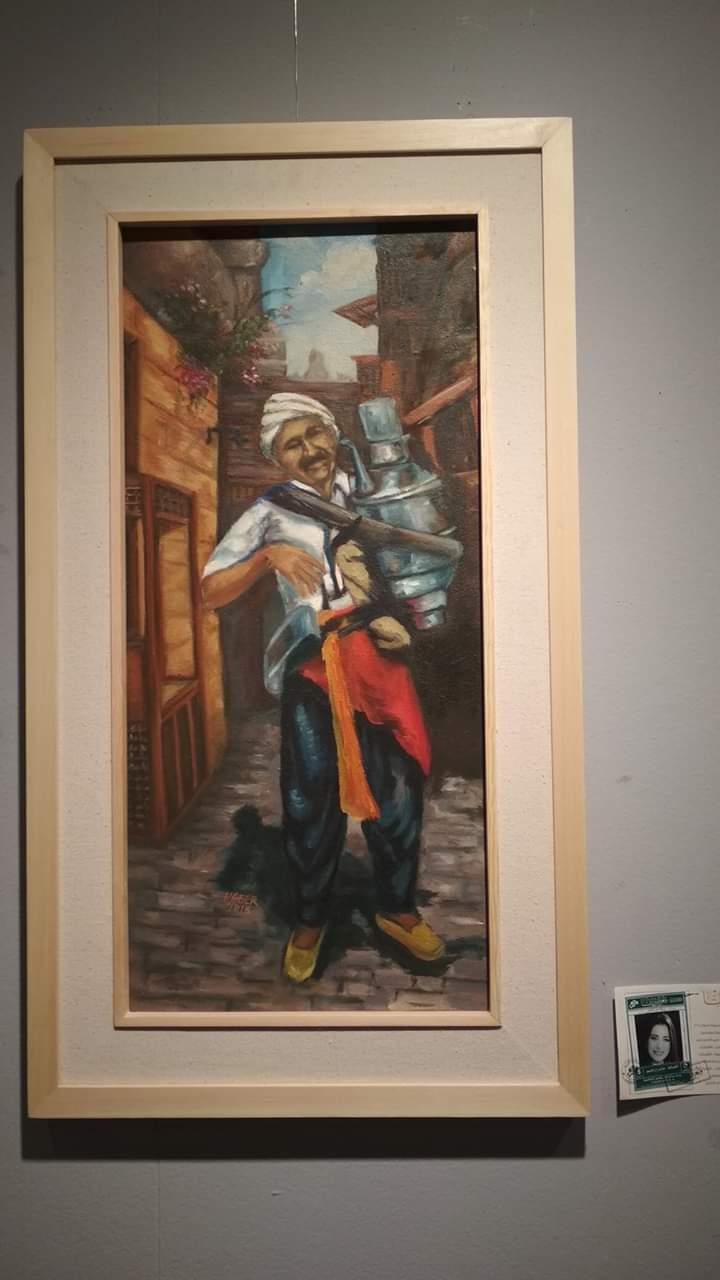 عمل فنى بمعرض تراثنا.. رسالة إلى الماضى بدار الأوبرا المصرية (12)