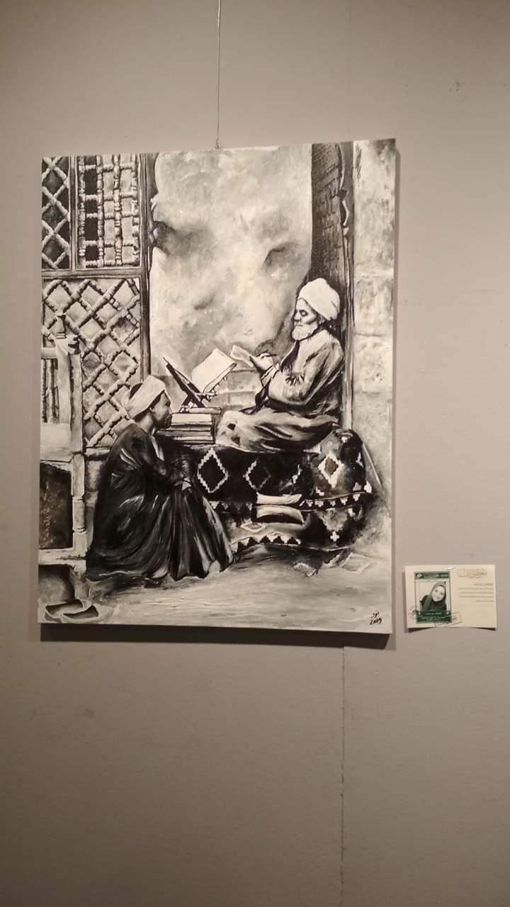 عمل فنى بمعرض تراثنا.. رسالة إلى الماضى بدار الأوبرا المصرية (9)