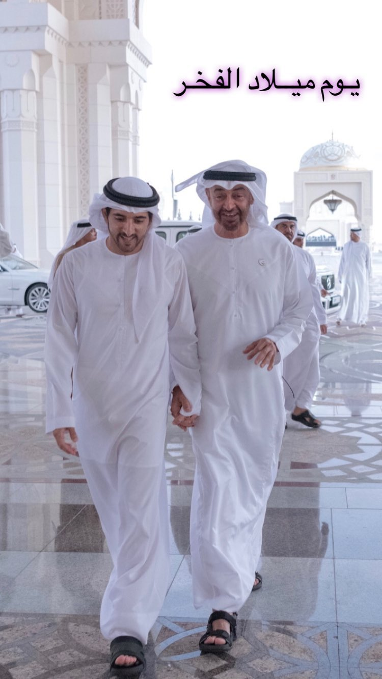 حمدان بن محمد بن راشد آل مكتوم ومحمد بن زايد آل نهيان