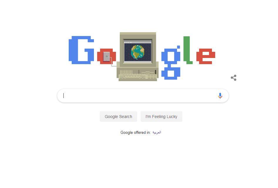 جوجل يحتفل بالذكرى الـ30 للشبكة العنكبوتية