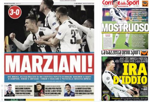 الصحف الإيطالية