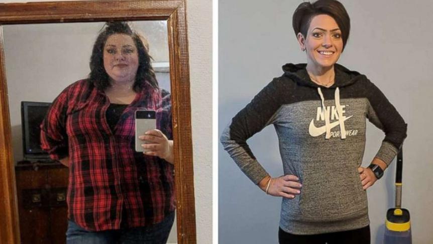 سيدة تخسر 83 كيلو من وزنها