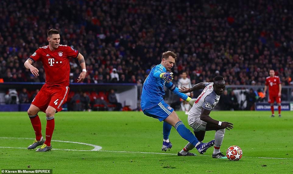 ساديو ماني في مباراة ليفربول وبايرن ميونخ