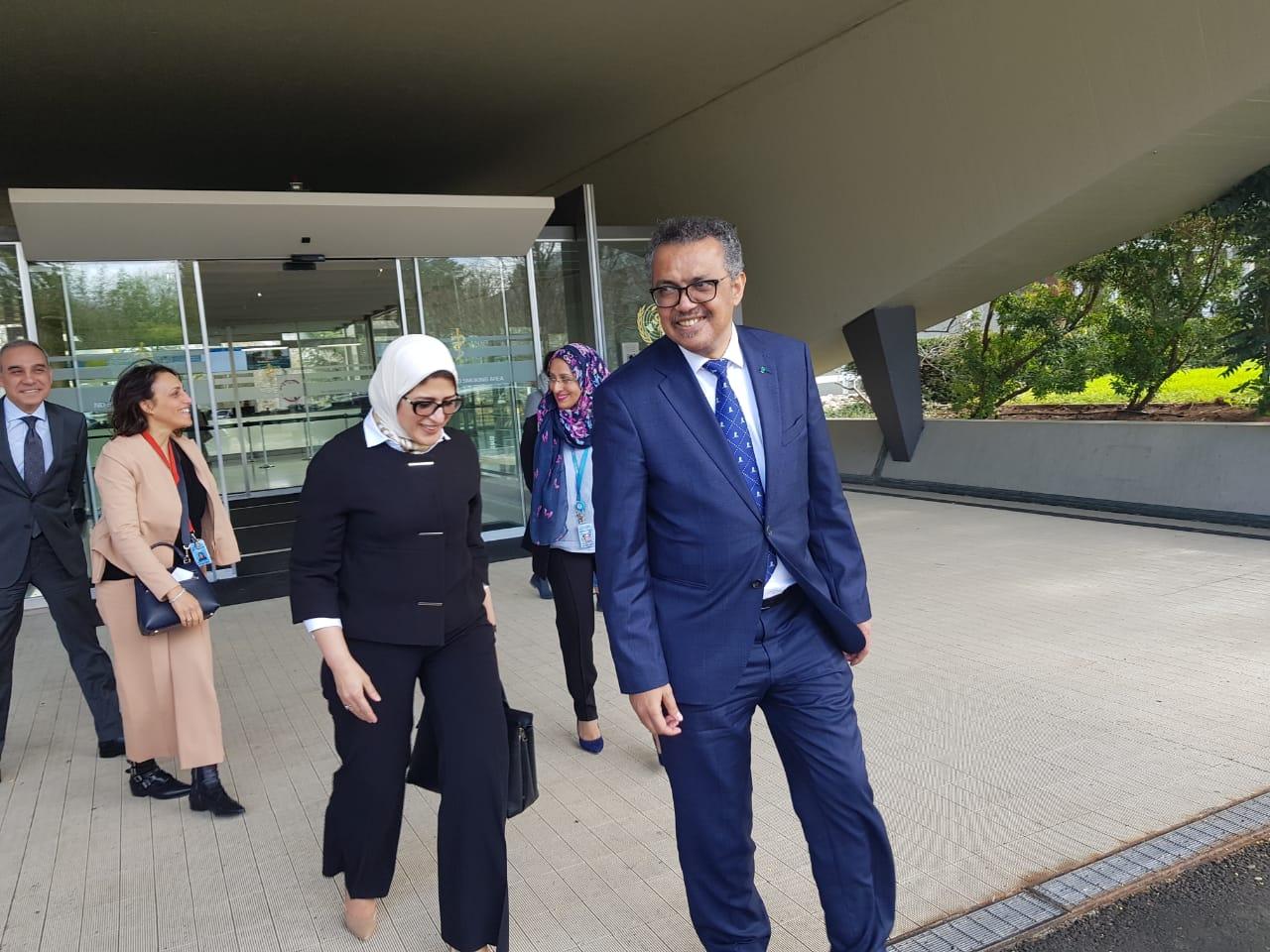 وزيرة الصحة تلتقى رئيس منظمة الصحة العالمية  (1)