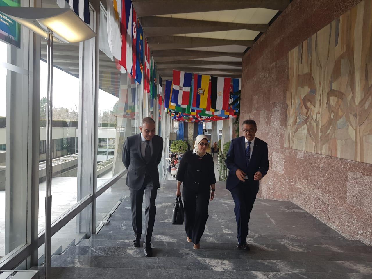 وزيرة الصحة تلتقى رئيس منظمة الصحة العالمية  (3)