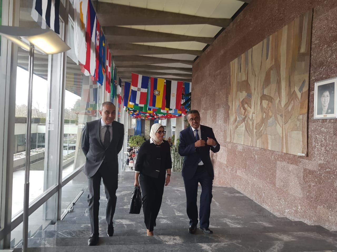 وزيرة الصحة تلتقى رئيس منظمة الصحة العالمية  (2)