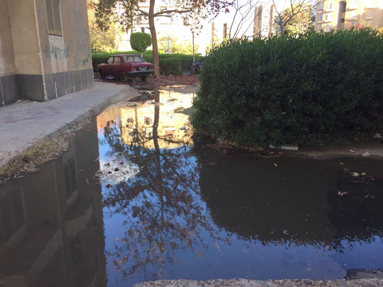 انتشار مياه الصرف الصحي