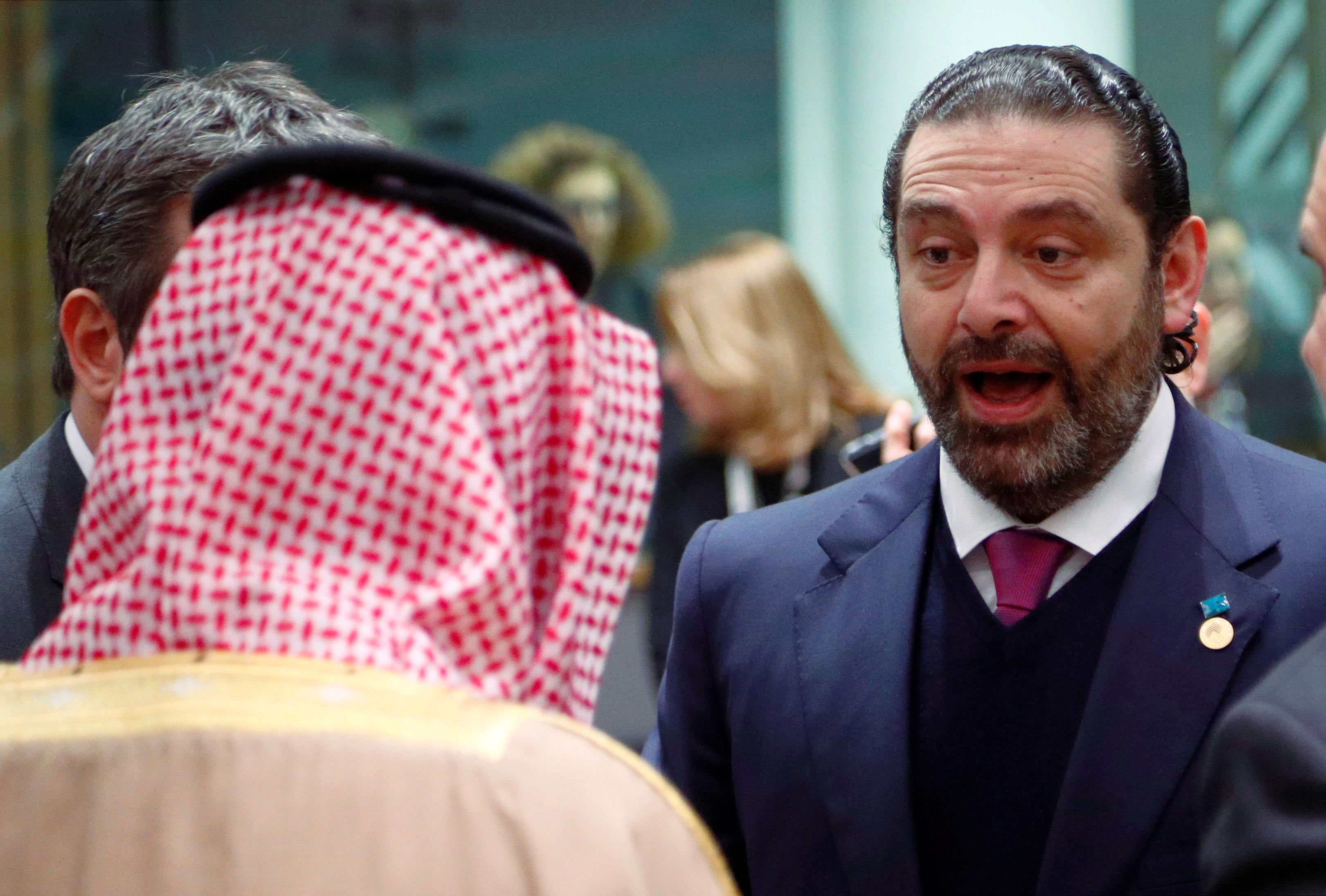 رئيس الوزراء اللبنانى فى حوار مع وزير الدولة السعودى للشئون الخارجية