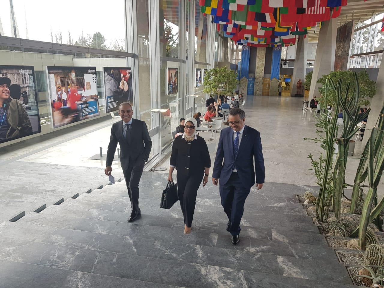 وزيرة الصحة تلتقى رئيس منظمة الصحة العالمية  (5)