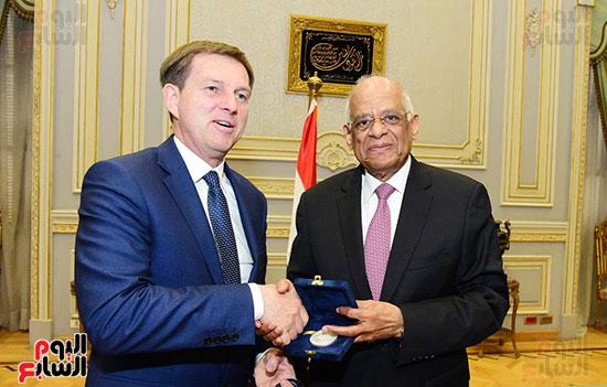 الدكتور على عبد العال، رئيس مجلس النواب، اليوم الخميس، ميرو سيرار نائب رئيس الوزراء ووزير خارجية سلوفينيا (2)