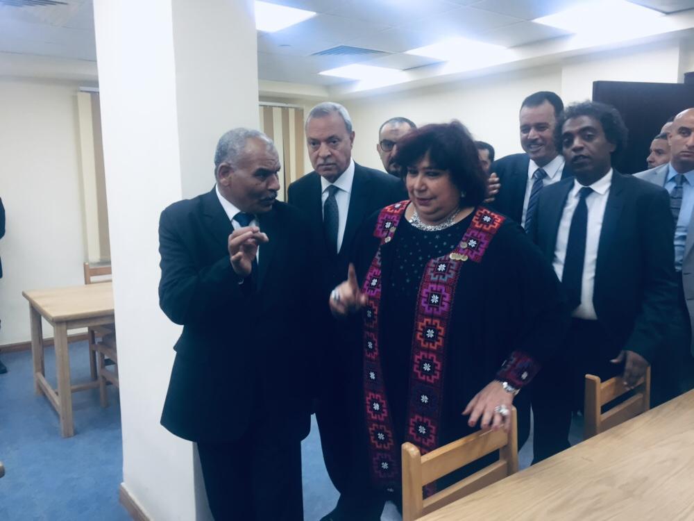 وزيرة الثقافة تفتتح قصر ثقافة  (1)