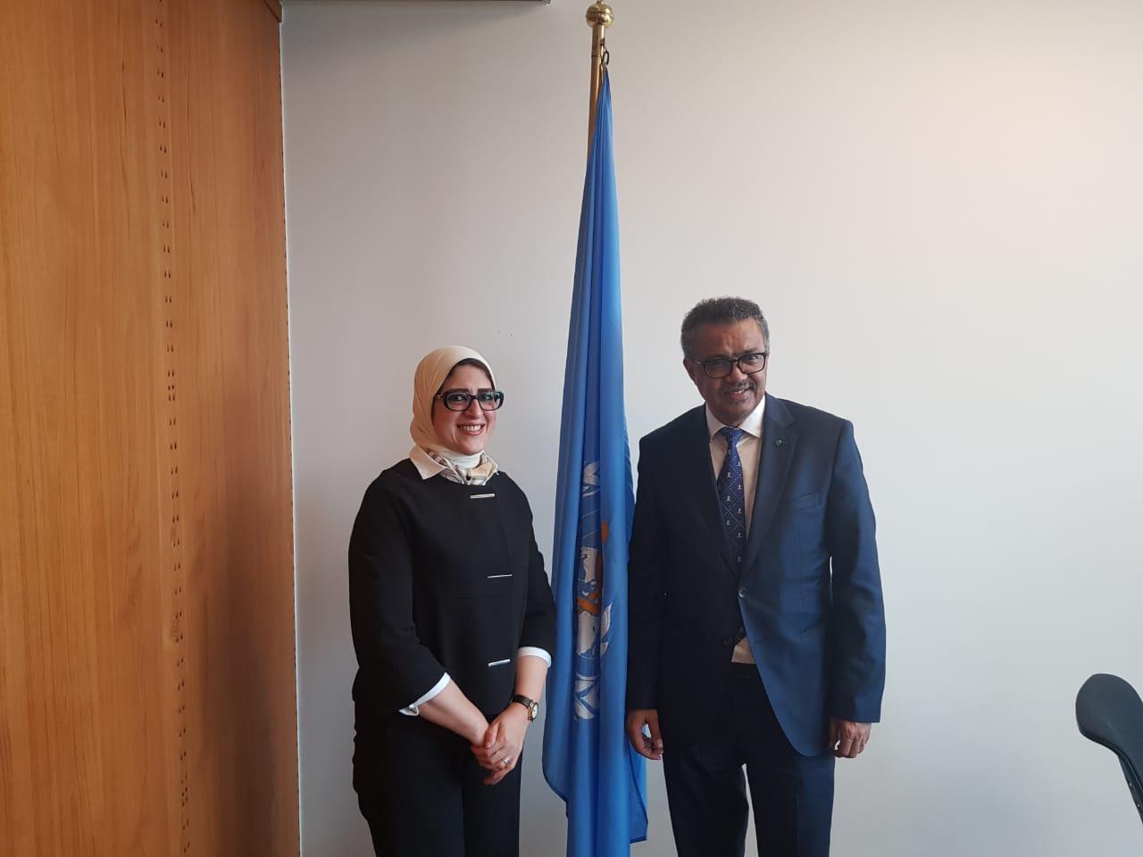 وزيرة الصحة تلتقى رئيس منظمة الصحة العالمية  (4)