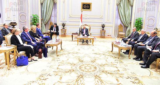 الدكتور على عبد العال، رئيس مجلس النواب، اليوم الخميس، ميرو سيرار نائب رئيس الوزراء ووزير خارجية سلوفينيا (1)