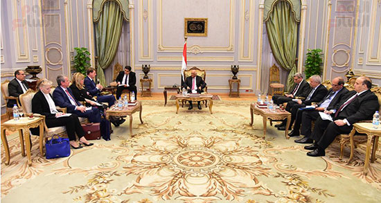 الدكتور على عبد العال، رئيس مجلس النواب، اليوم الخميس، ميرو سيرار نائب رئيس الوزراء ووزير خارجية سلوفينيا (3)