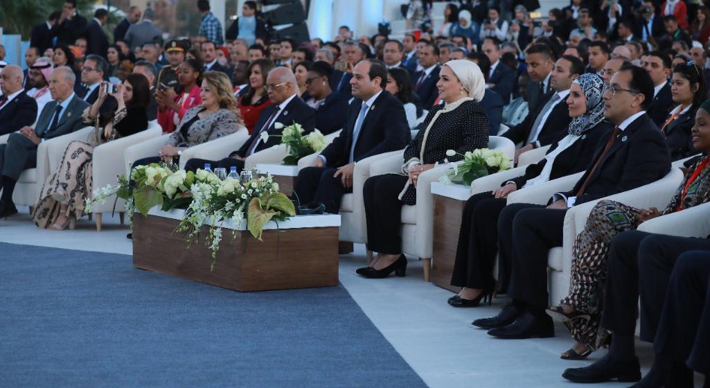 صفحة الرئيس تبرز كلمة السيسى فى افتتاح متلقى الشباب العربى الإفريقى